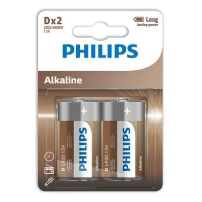 PHILIPS ALKALINE PILA D...