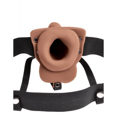 6'' HOLLOW STRAP-ON WITH BALLS