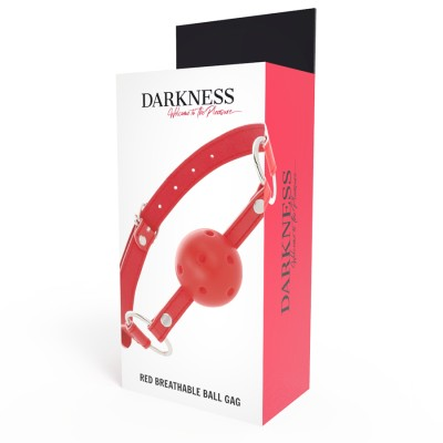 RED BREATHABLE BALL GAG